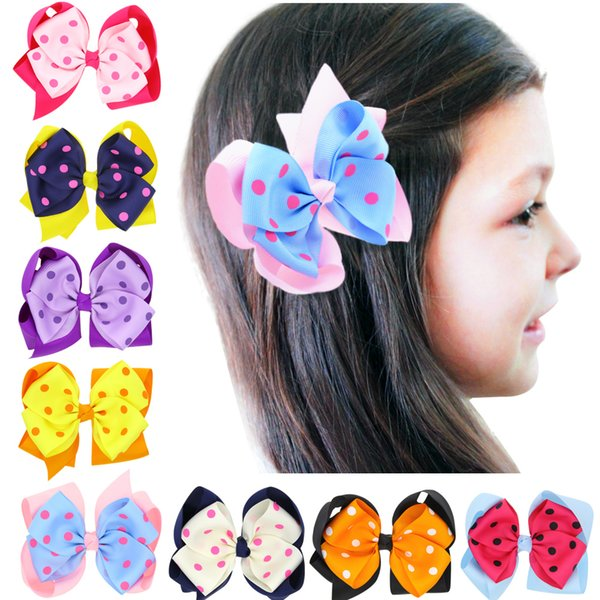 24pcs boutique barrettes for children hair ribbon bows clips for girls hairpins double clip accessories headdress Hairgrips HC097