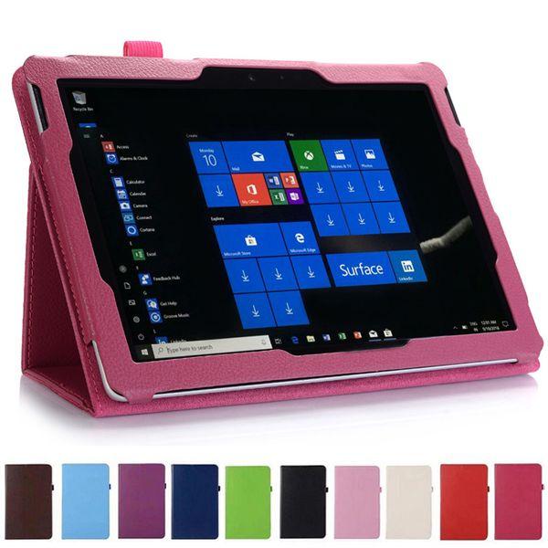 Le cas magnétique intelligent de cuir de rabat de support de pli mince de litchi peut tenir le clavier pour le nouveau Microsoft Surface Go SufaceGo 10 comprimé de 10,0 pouces