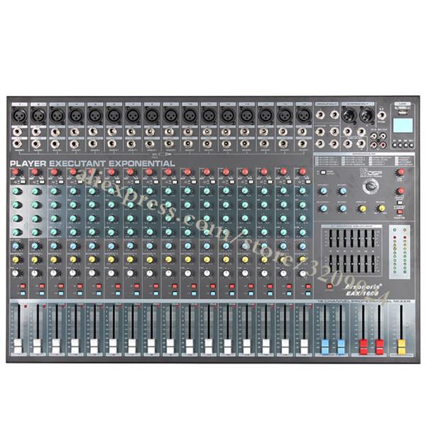 Karaoke Audio Sound Mixer Console di missaggio microfono a 16 canali con USB Phantom Power incorporato da 48 V