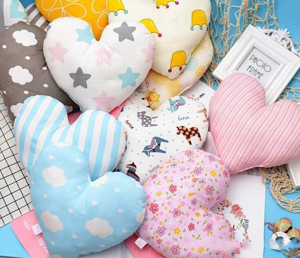 Kalp Şekli Yastık Atmak Yastık Minder Bebek Oyuncak Hediye Kanepe Dekoratif Yastık Düğün Dekorasyon Bebek Yastık