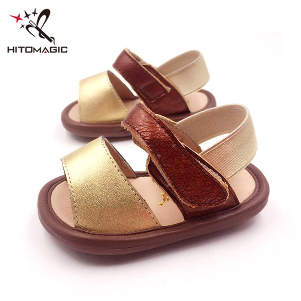 HITOMAGIC Baby Girls Boys Sandals Summer Kids Shoes 2018 Genuine Leather Toddler Shoes For Baby Children Sandals Soft Newborn