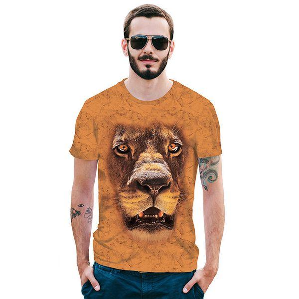 Rússia 3d espanha camisa animal leão camisa camiseta 3d t homens camisas engraçadas de t mens clothing casual teetope tigre tshirt