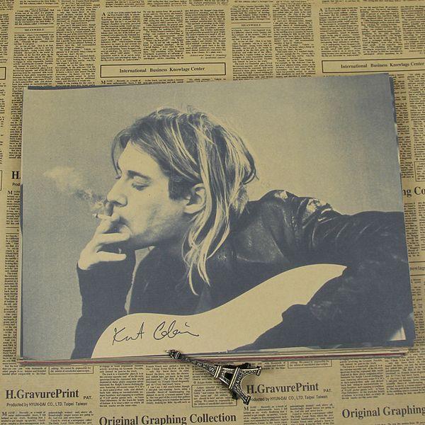 Rétro Rock Band Guitare star Kraft affiche collection salle salon décoratif stickers muraux