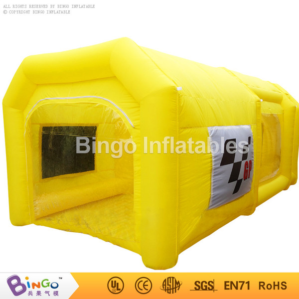 Cabine de pintura portátil comercial 6 * 3 * 2.5 Mh inflável cabine de pintura do carro para carro usado com sistema de filtro brinquedos tenda
