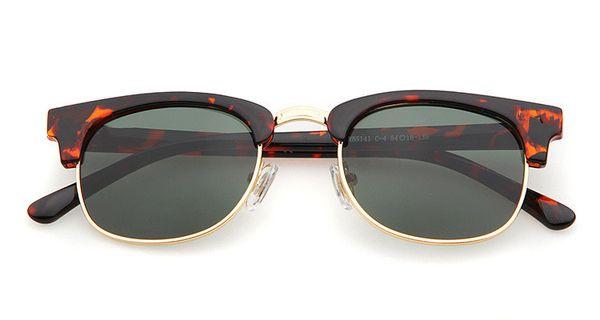 best selling Brand Fashion Design Sunglasses club ger person Sunglasses metal Half frame retro sunglasses UV400 anti-UV grade wholesale