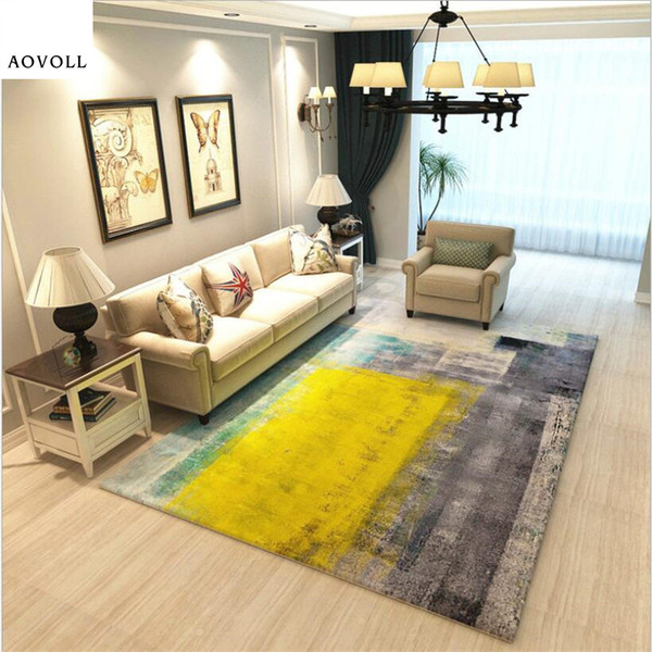 AOVOLL Soft Large Carpets For Living Room Bedroom Kid Room Rugs Home Carpet  Floor Door Mat Fashion Abstract Delicate Area Rug Blanket Turquoise Throw  ...