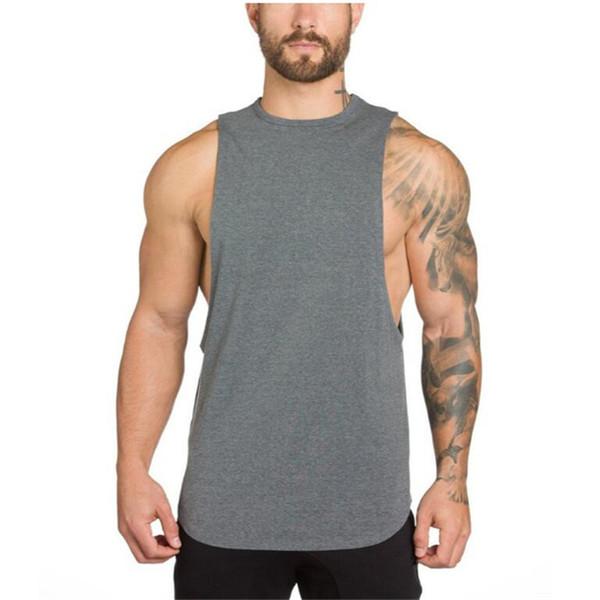 CKAHSBI Shirts Tops Men Running T shirt Sleeveless Fitness Tight Quick Dry Shirt Plus Size S-XXL Gym Sportswear Training Vest
