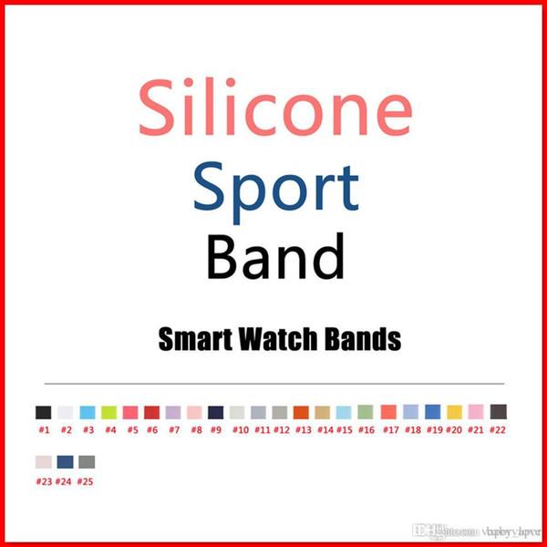 2017 neue farben rosa sand cocoa silikon sport band für apple watch band serie 1 und serie 2 mit 25 farbe