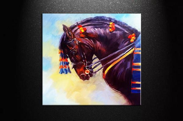 Ручная роспись современные абстрактные лошади животные картина маслом воспроизведение холст стены искусства на холсте гостиной домашнего офиса декор, мульти размеры