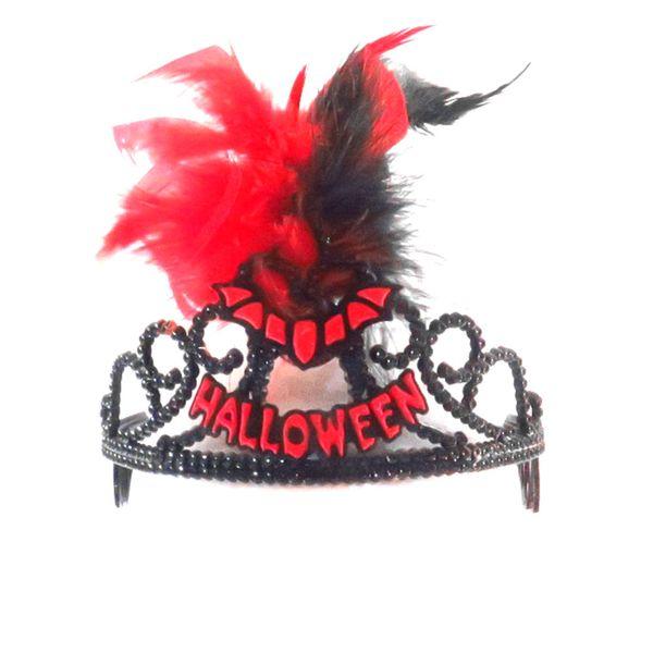 6pcs 2018 NEW Design halloween novelty headband hair clips fun taira variety devil making up tools bat spider pattern