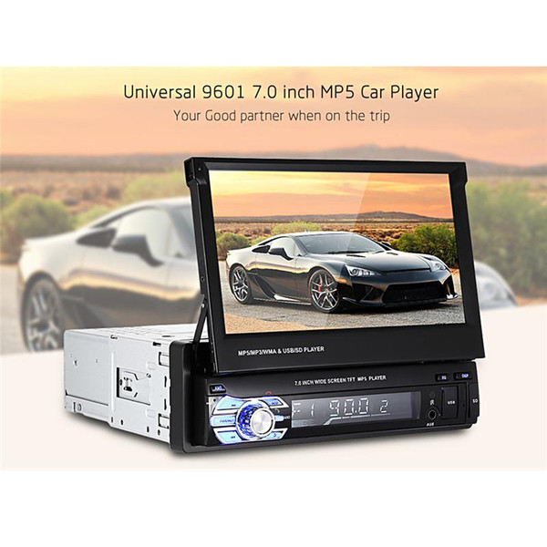 Universal 1 Din 7,0 Zoll TFT LCD Bildschirm Auto DVD Multimedia Player MP5 Bluetooth Auto Audio Stereo FM Radio