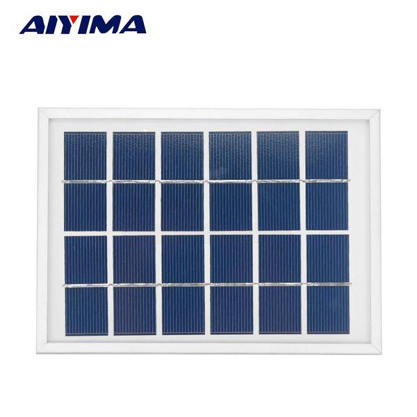 Batteries Cells, Panel AIYIMA Solar Panels 6V 2W Photovoltaic Panels Solar Emergency Battery Energy Plate 180x130MM Solars Power Bank