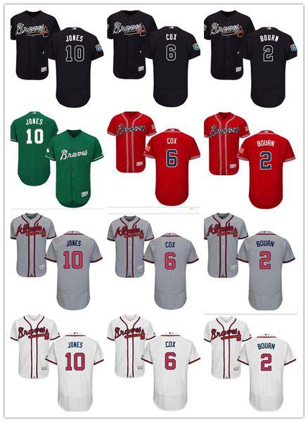 reputable site 79dfd 18c90 2018 Custom Men'S Women Youth Majestic Atlanta Braves Jersey #2 Michael  Bourn 6 Bobby Cox 10 Chipper Jones Red Blue Grey White Baseball Jerseys  From ...