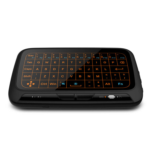 H18 + Mini Wireless Virtual Keyboard Backlit Air Mouse 2.4GHz Full Screen QWERTY Gaming Keyboard Touchpad with Backlight
