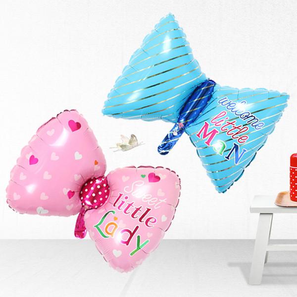 cheap 78*48CM Cartoon Bowknot air foil balloons kids birthday party Decoration/Christmas decoration for home aluminium coat balloons