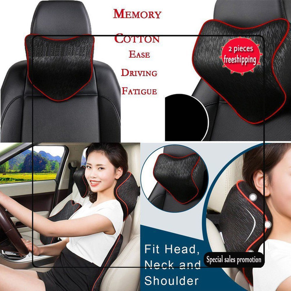 2017 New Arrival Hot Car Seat Headrest Pad Memory Foam Travel Pillow Head Neck Support Cushion Auto Safety