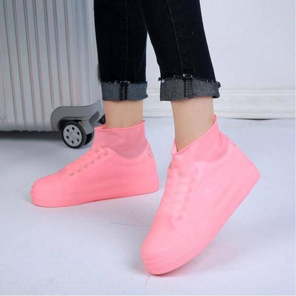 2018 Waterproof Reusable Rain Shoes Covers Rubber Slip-resistant Rain Boot Overshoes Men&Women Shoes Accessories 3 Colors