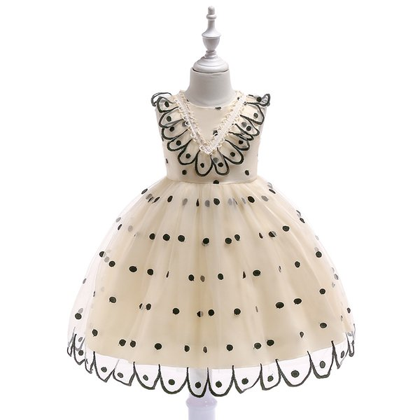 baby girl dresses 2019 fashion Embroidery Peacock Dot TuTu Princess Wedding Dresses Dance Performance Costume Ball Gowns Evening Dresses