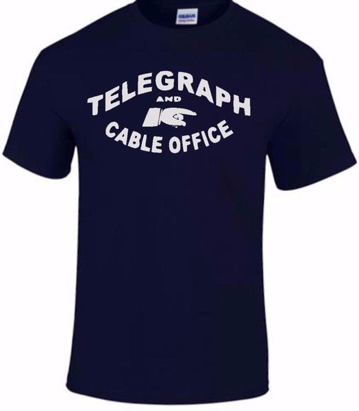 Telegraph And Cable Phone T Shirt Sign TShirt Tee Men Retro Vintage Multi Color Mens 2018 fashion Brand T Shirt O-Neck 100%cotton