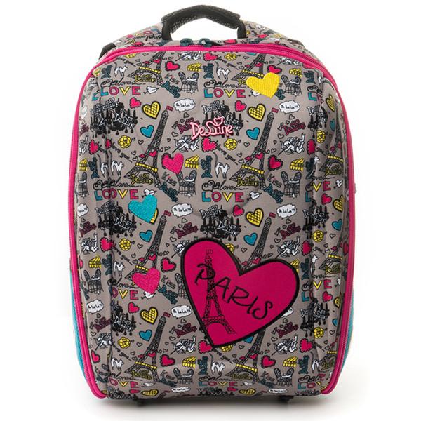 Delune Cartoon Bear Pattern School Bags for Girls Boys Schoolbag Children Orthopedic Backpack Primary Escolar Grade 1-5