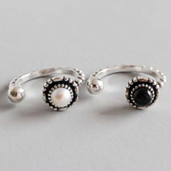 2018 coreano S925 original de la plata esterlina arte de la personalidad para hacer el viejo grano abierto anillo femenino cadena de oro collar de joyas pulseras de silicona
