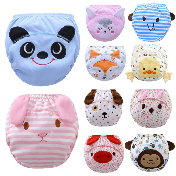 Stereo Cartoon Cute Baby Diapers Reusable Nappies Cloth Diaper Washable Infants Children Baby Cotton Training Pants Panties Nappy Changing