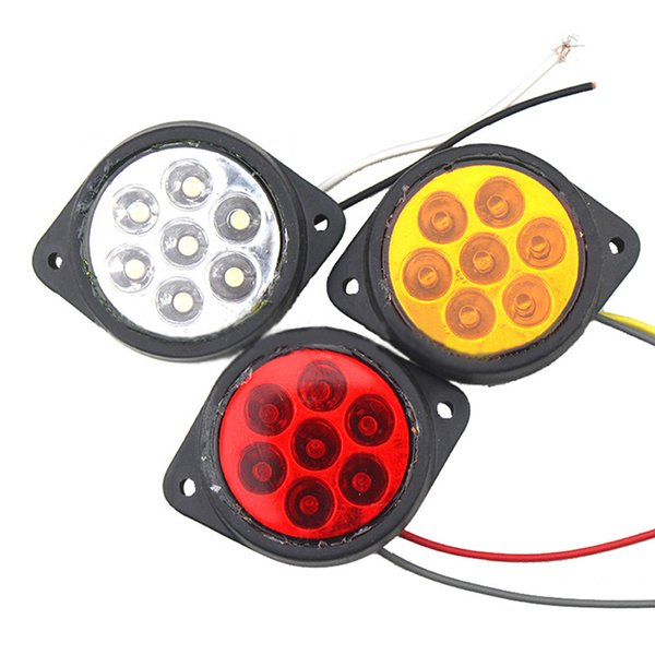 12V 24V 8 LED  Rouge Blanc Feux de Gabarit Position Latérale Camion Remorque
