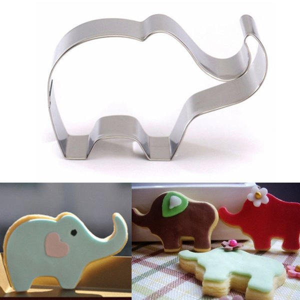 50pc Cookie Mold Stainless Steel Elephant Shape Cake Fondant Mold Cookie Cutter Kitchen Accessories