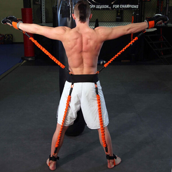 Novo Resistência Bandas de Fitness Crossfit Equipamento Explosivo Kicking Box Force Training Belt 130LBS / 140LBS / 150LBS