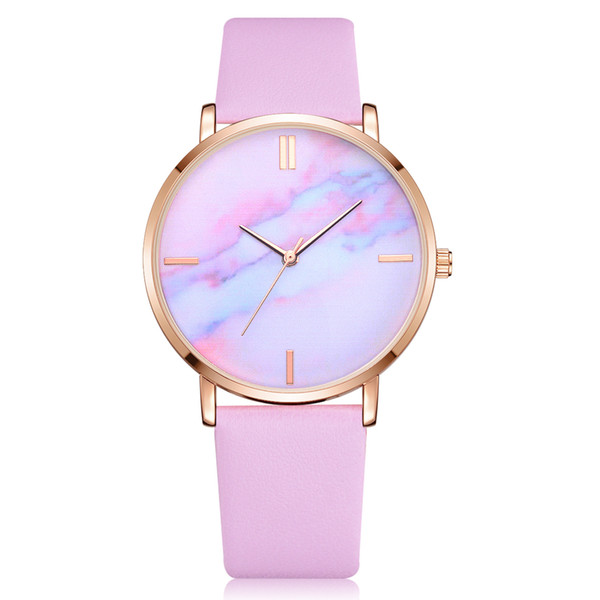 Luxury fashion watches Women colorful pattern PU leather quartz wristwatches Dress ladies girl casual watch Relogio Masculino Clock gift new