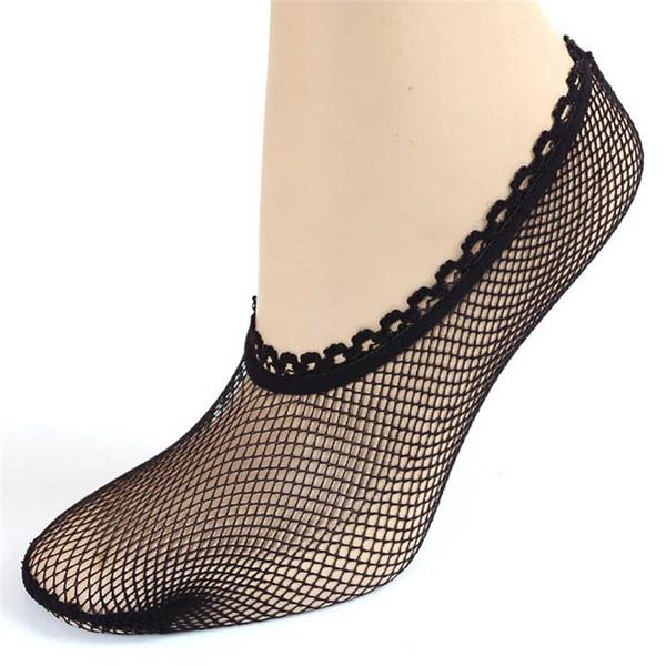 2018 Neue Frauen Ultradünne Fischnetz Mesh Elastische Kurze Socken Flacher Mund Stealth Socken Dropshipping Großhandel im Einzelhandel P5