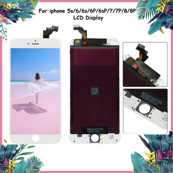 Meilleure qualité (écran LCD de Tianma) pour iphone 5 6 6 plus 6s 6s plus 7 8 plus noir blanc sans pixel mort DHL