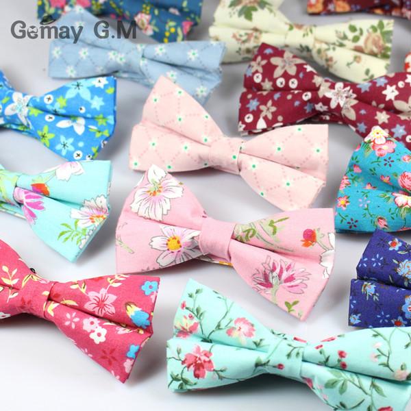 Классический цветочный узор галстук-бабочка для мужчин с принтом хлопок галстук-бабочка британский стиль бизнес-мода галстук-бабочка свадьба Gravata