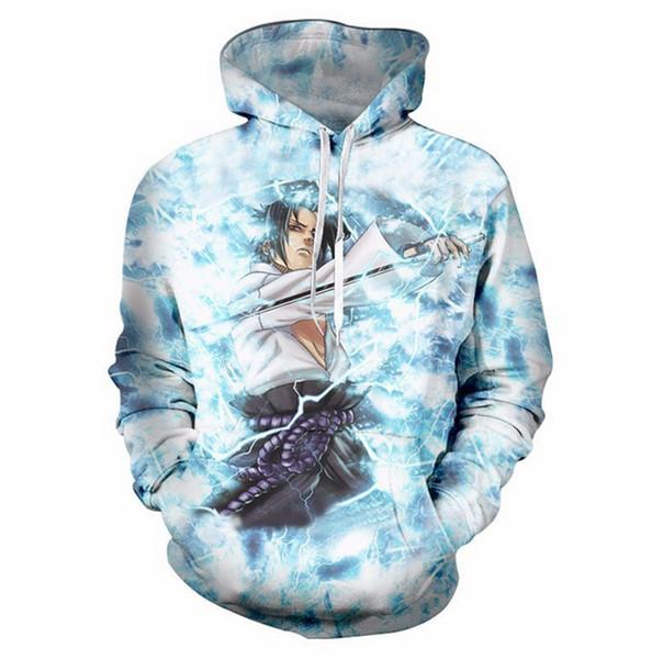Yeni Moda Kadınlar / Erkekler naruto 3D Baskı Rahat kapüşonlu Sweatshirt QY029