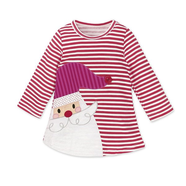 New foreign trade skirts Christmas girls girls striped deer dress