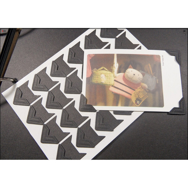 24 pcs/sheet photo album Scrapbook vintage photo Corner Protectors DIY Handmade Sticker Gift DecorScrapbooking Arts crafts