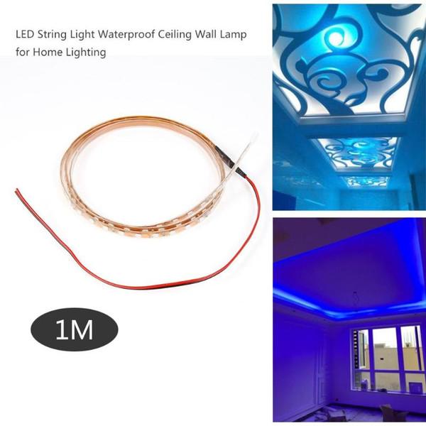 12v Led Strip 1m Led String Lights Waterproof Ceiling Background Wall Decor Lamp For Home Living Room Lighting Dercoration 12v Led Strip Battery
