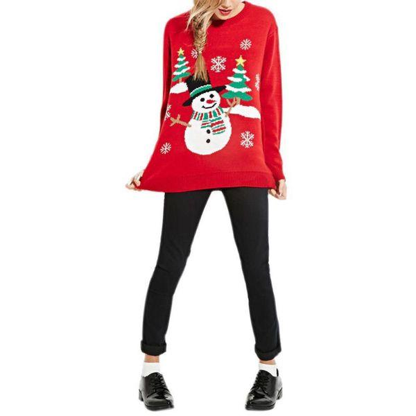 Mulheres Meninas Natal Rudolph Rena Boneco De Neve De Santa Jumpers Pullover Sweater Tops