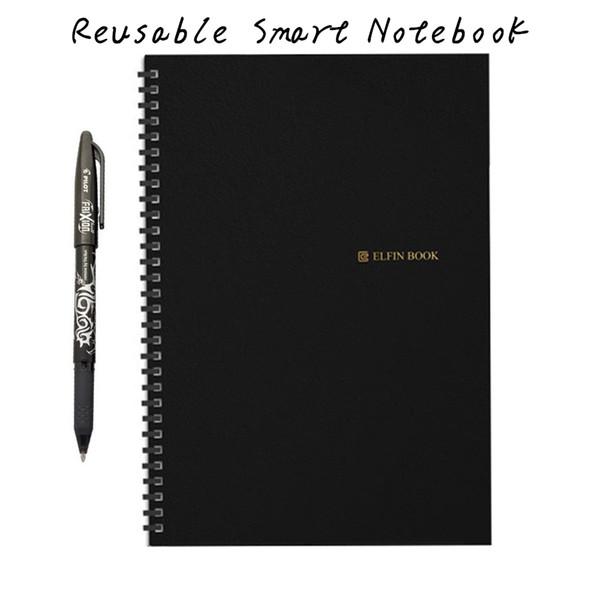 2 Dimensioni Elfinbook Notebook cancellabile Carta riutilizzabile Smart Wirebound Notebook Cloud Storage Connessione Flash Storage App