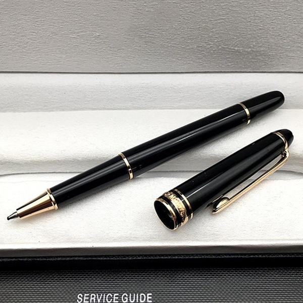 Luxury Meistersteks 163 Black Resin Golden Silver Clip Write Rollerball pen Ballpoint pen Fountain pens with Monte Brands Serial Number