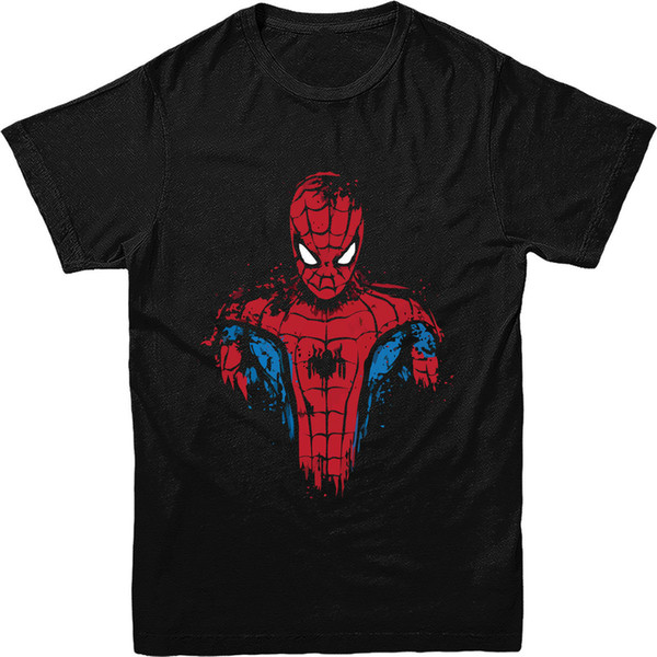 Spiderman T Shirt,Spiderman LOGO T-Shirt Marvel Comics Superheroes T-SHIRT Gift Brand Clothes Summer 2018 Simple Style