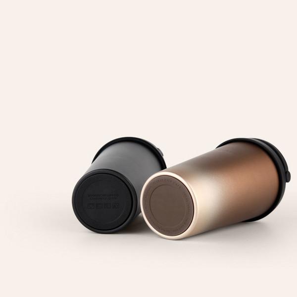 Justware Tasse de café de voyage isolée sous vide en acier inoxydable Tasse à thé moderne Thermos Flacon Bouteille d'eau 500 ml 17 oz