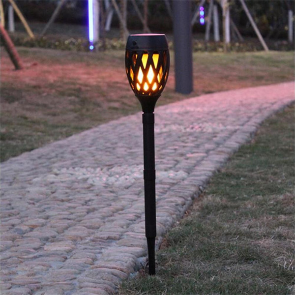 Solar lawn lamps Outdoor Waterproof Flickering Flame Landscape LED Decoration Lighting for Garden Yard Security Spot light Torch