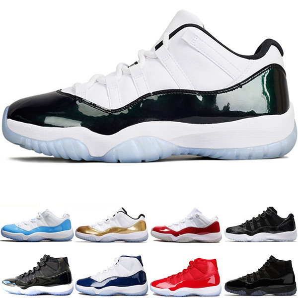 Men Designer 11 11s Iridescent Cap and Gown Basketball Shoes Bred Concord 45 PE Legend Blue Womens Sports Sneakers size 5.5-13