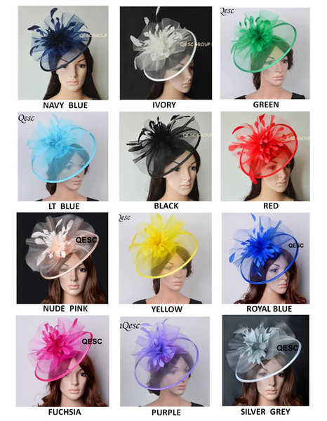 best selling New Colour arrival.Big Crin Fascinator sinamay Fascinator with feather flowers for Melbourne cup,Wedding,Races.