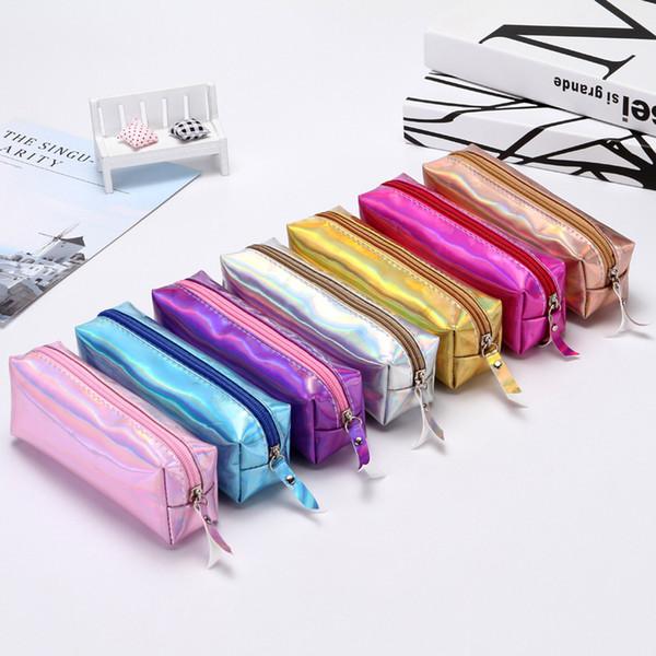 Pencil-case Laser Pencil bag simple pencil bag students female creative lovable cylinder bag