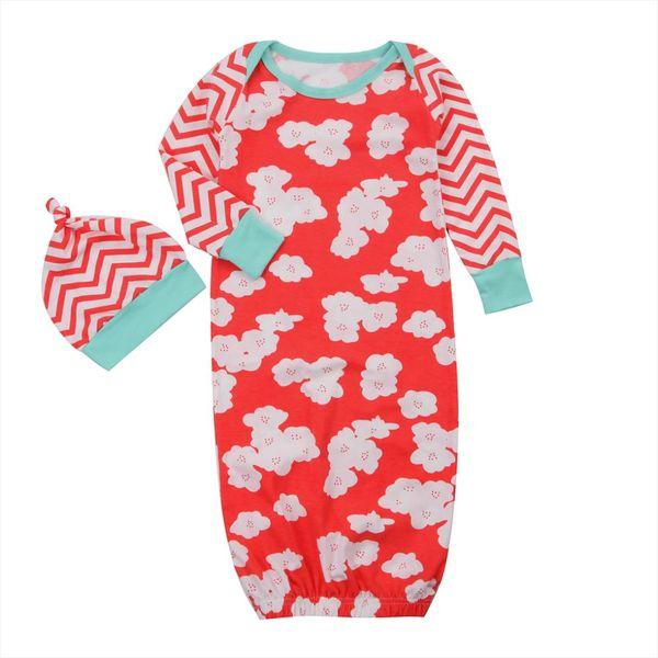 2017 Brand New Bebê Recém-nascido Da Criança Infantil Unisex Pequeno Swaddle Envoltório Swaddling Cobertor Saco de Dormir Flor Impresso Outfits 0-1 T