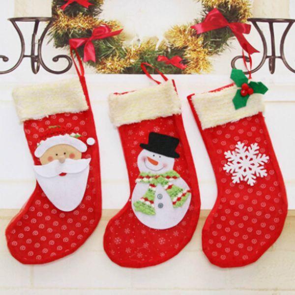 mini stockings wholesale coupons new year 1pc mini christmas stockings socks santa claus candy gift - Christmas Stockings Wholesale