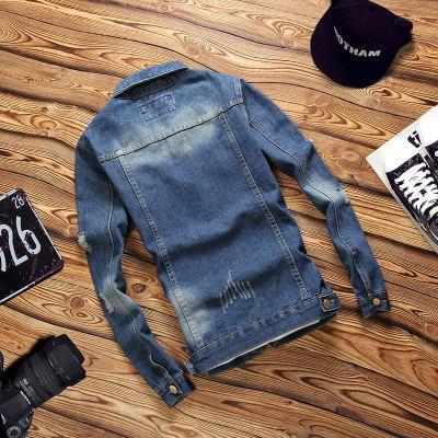 Erkekler için yeni Slim Fit Gömlek Kot Pamuk Camisa Chemise Denim Gömlek Erkekler Toptan Uzun Kollu Denim Ceket Bluz 4XL Eski Yıpranmış Denim