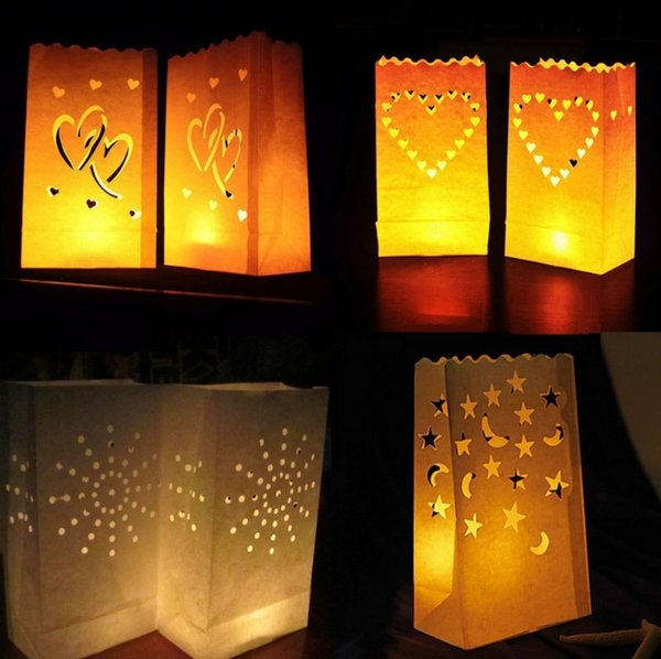 Candle Bags Special Wishing Lanterns with Big Heart Superb for Wedding Valentine Reception Engagement Event or Marriage Proposal